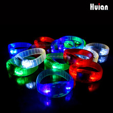 sound activated glow led bracelet for promotional gift