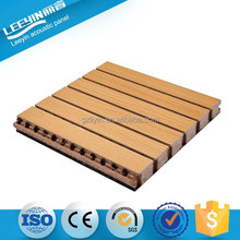 15mm Environmental Melamine Wooden Grooved Acoustic Panel For Studio