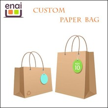Shanghai factory laminated kraft paper bag for packing food with nice printing design