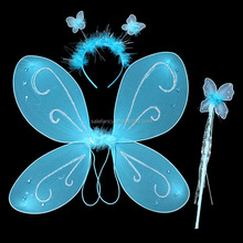 Blue hot sale butterfly wings light up adult fairy wings QFW-1008