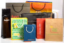 Square Bottom/food packing/Shopping/Gift/Carrier/Tote kraft Paper Bags Wholesales