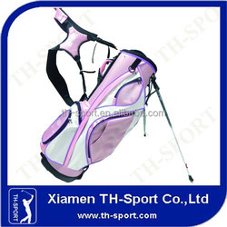Pink colored ladies beautiful golf bag stand