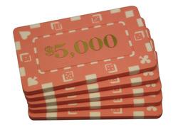 2000 poker chip case