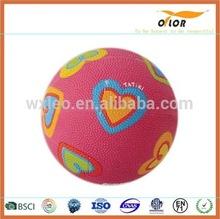 size 7 colorful mini rubber basketball for children