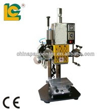 New product automatic grade hot foil stamping machine TH-90-1 embossing for card,number plate,fabric,leather,metal,dog tag