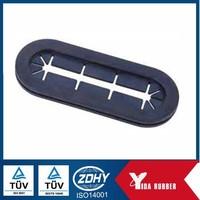 Industrial used EPDM black rubber grommet, good elastic and oil resistance rubber gromet sealing