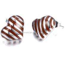 OEM service design heart earrings