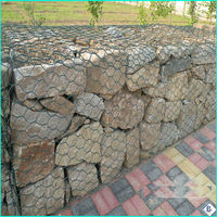 strong pvc coated galvanized stone gabion mesh factory price