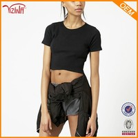 Wholesale crop tops ,cheap blank t shirts,hot cotton brand clothing for women