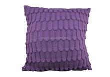 Superior quality knitted cushion/seat cushion - purple