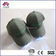 custom LED glowing cotton caps led baseball cap