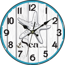 small gifts clock nature and sea theme with quartz movement