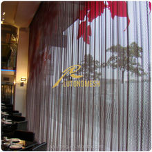 Metal mesh drapery for interior wall decoration