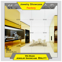 Luxury glass wall mounted showcase for jewelry display