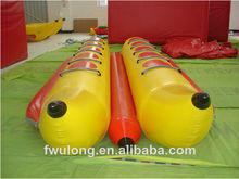 Commercial Durable PVC Inflatable Double Banana Boat for Sales