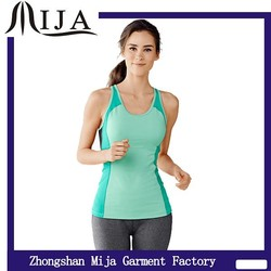 2015 custom cheap 100% polyester dry fit fabric girls tank top