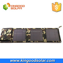Fashion Camouflage 12w 5000mah folding panel portable mobile solar charger for phone