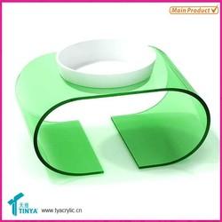 New Products Wholesale Acrylic Transparent Custom Plastic Pet Dog / Cat Feeding Bowl Display Holder