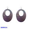 iron purple earring costume jewelry ear drop