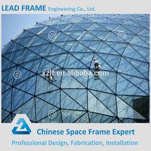 Techo Space Frame Cristal de construcción Cúpula de China de