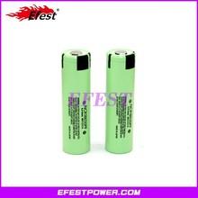 NCR 18650 pf battery 18650 pf 2900mah battery 3.7v rechargable green battery with flat top 18650pf 2900mah battery from Efest