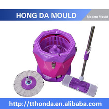 Easy Wring Spin Mop & Bucket System, 360 Degree Spin Self-wringing Mop & Spin Dry Bucket with 2 Mop Heads