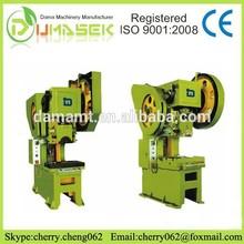Serie J23 prensa mecánica, C máquina de bastidor de la prensa para el aluminio, máquina de perforación de buena calidad de dicha