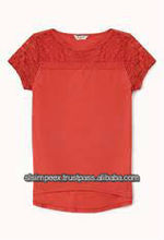 Lace Short Sleeve Childrens t-shirt