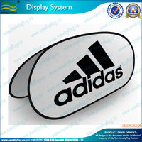 brand advertising oval pop up banner