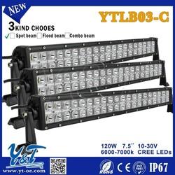 Y&Twholesale 120Woffroad led light bar, 40 x 3w off road light bar for Jeep, Truck, Off Road, UTV, ATV, SU
