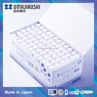 Made in Japan UMAJIRUSHI DC Chalk Deluxe DX501 Non toxic Dustless Premium White School Chalk in Hagoromo Fulltouch formula