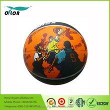 Customized colorful rubber basketball,sport products