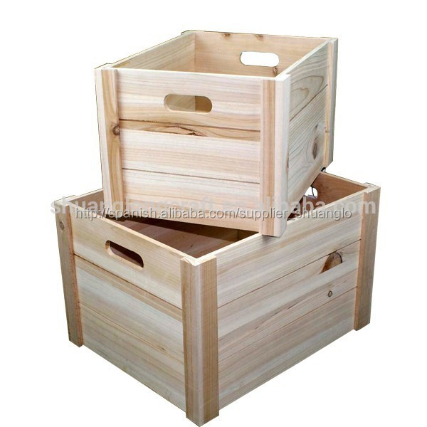 Madera sin terminar de env o cajones jaulas embalaje de la plataforma y gran caj n de madera - Cajones de madera ...