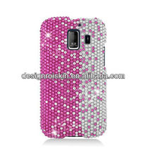 crystal skull phone case for Huawei Fusion 2 U8665 full CS diamond protective case Pink Silver Vertical