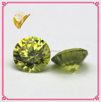 lab created peridot rough gemstones, cubic zircon beads