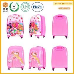 Pink cute kids trolley bag