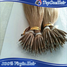 new products cheap aliexpress nano ring hair 8-30 inch peruvian remy hair extenisons