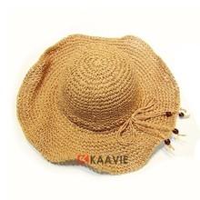 ladies crocheted straw sun beach floppy madagascar raffia hats