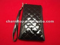 Fancy Soft Leather Pouch Case for iPhone 4 4S