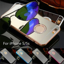Fashion Colors For iPhone 5 Plastic Mirror Case, Case For iPhone 5s
