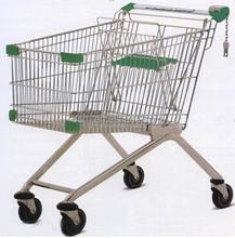 RH-SE180 180L 1040*590*1040mm 5''PU Wheel Unfolding Grocery Cart for European Shopping Trolley