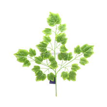 3 branches high quality fabric silk-screen printing green artificial grape leaf leaves for wedding decoration
