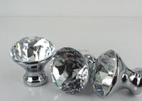 Clear diamond crystal glass door knobs for room decoration