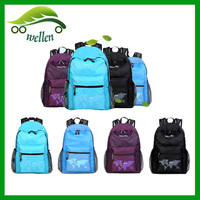 Latest holiday promotions ultralight folding shoulders leisure backpack/polyester backpack