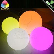 rgb waterproof ball light plastic led sphere for garden