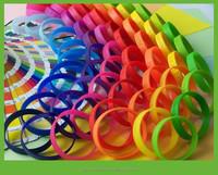 OEM wholesale rubber slap wrist wraps, silicon wristband bracelets