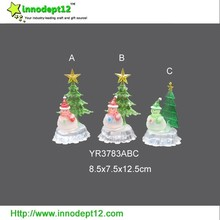 2015 new products acrylic artificial Christmas tree decoration with led color changing light