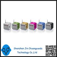 Mini Digital Speaker TD-V26 Portable Speaker USB Sound Box Support TF SD card+FM Radio+U disk LCD display