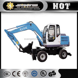 New and mini 7 ton WYL70 wheel excavator with xinchai engine, 42kw power capacity spare parts
