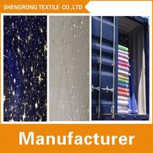 chian shengrong proveedor textiles fabirc de organza con la pulverización de